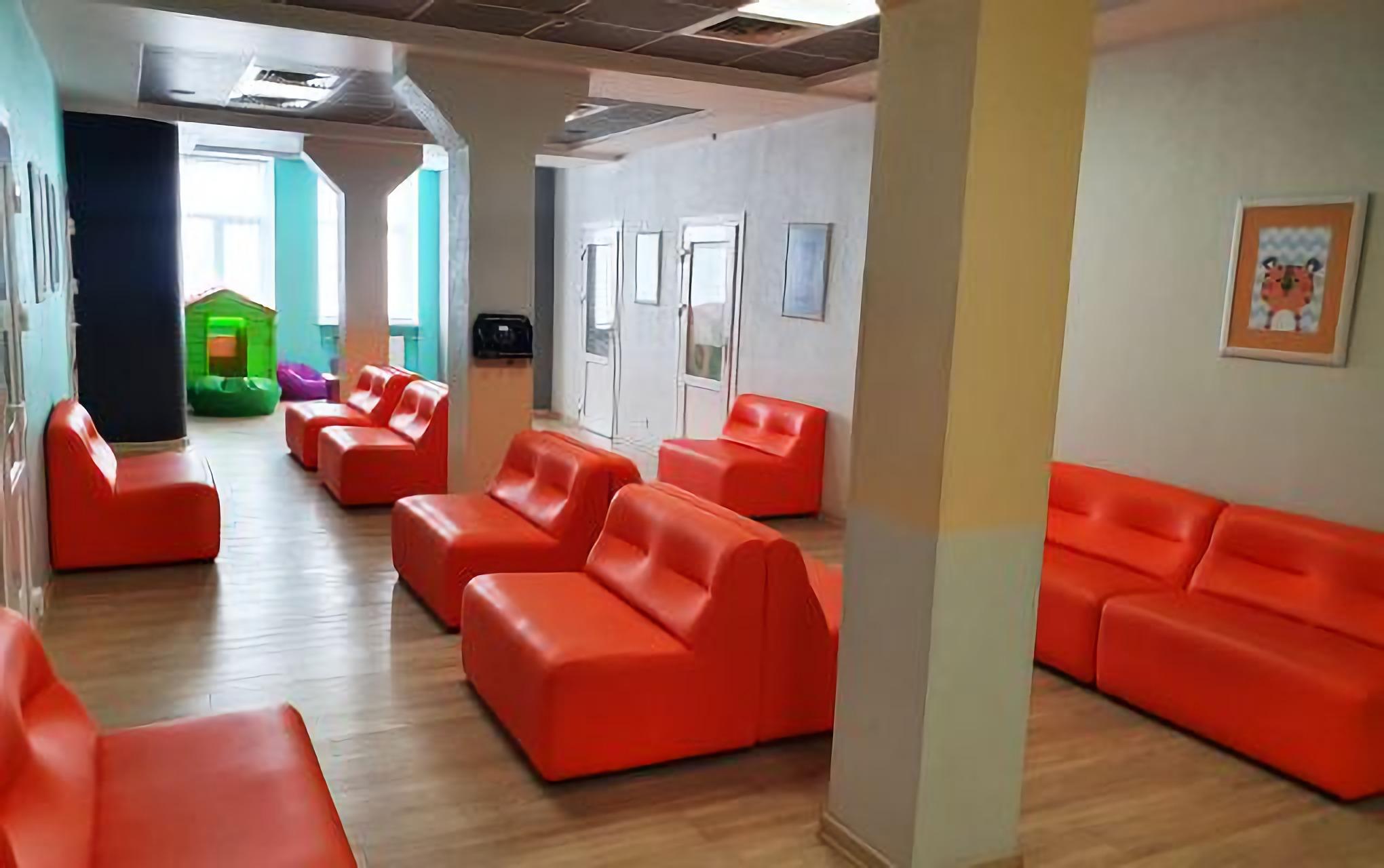 Waiting room in the Novy Zir Clinic in Kiev