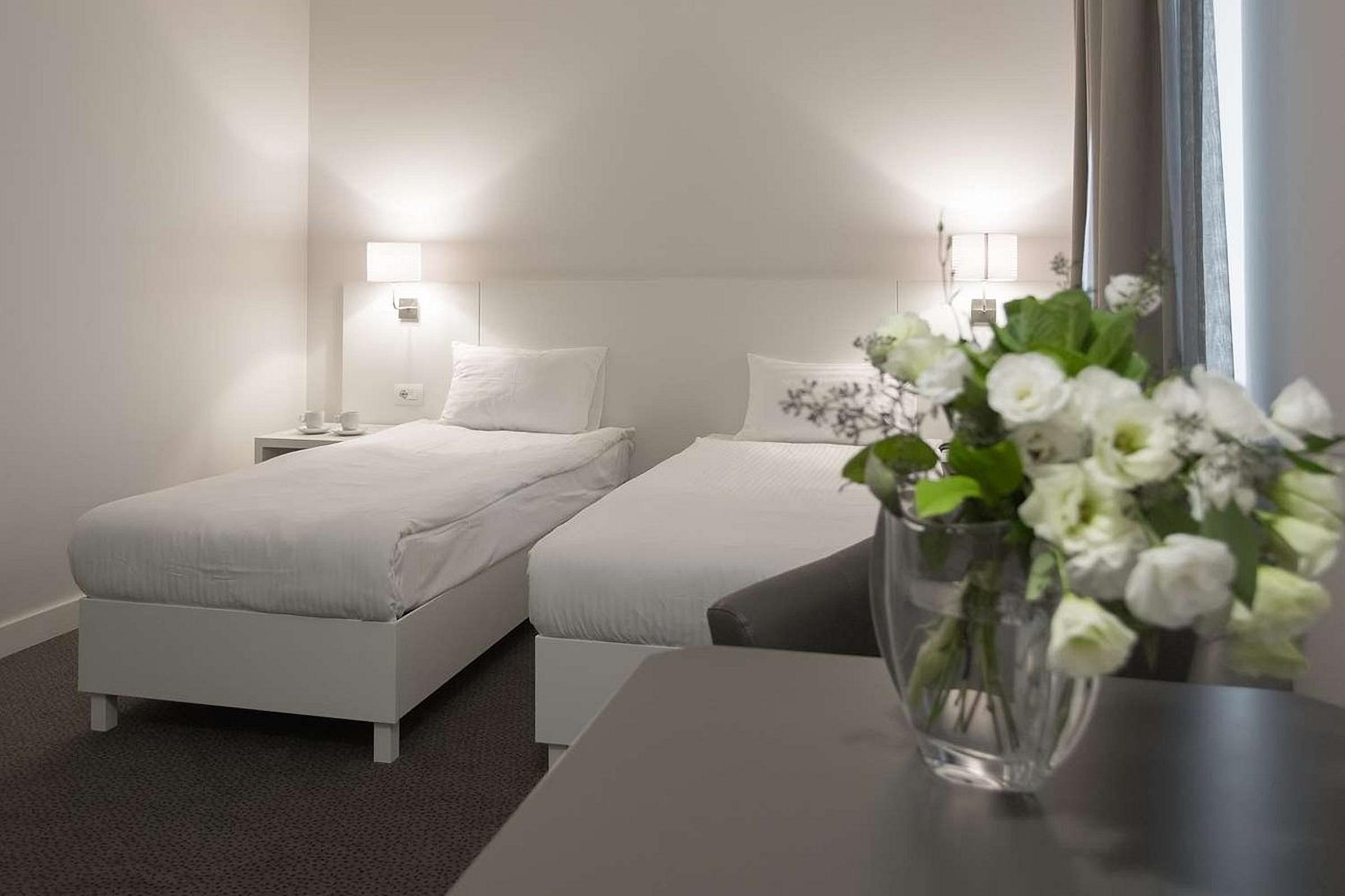 Separate beds in your room at UNO Design Hotel Odessa Ukraine