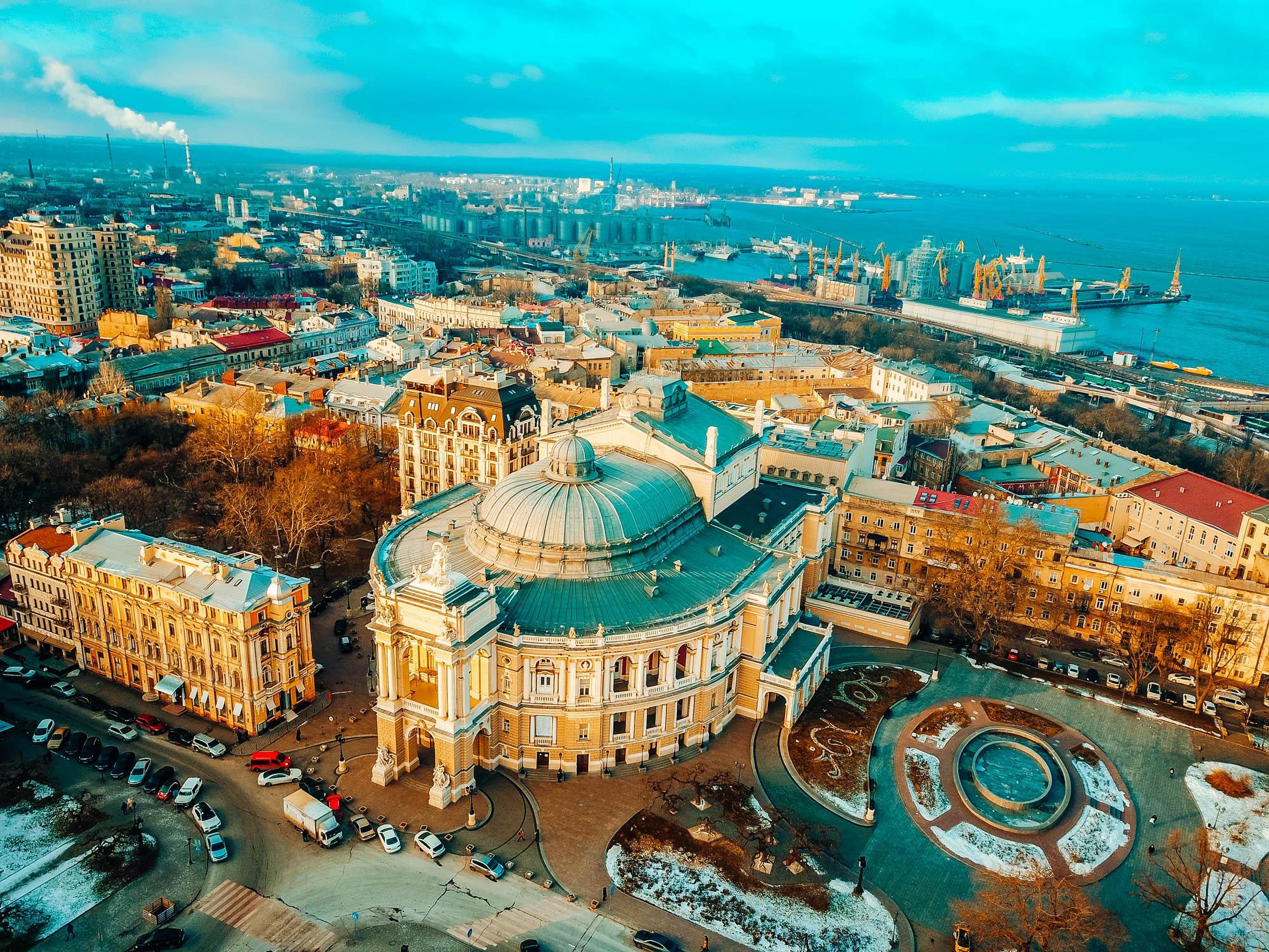 Odessa Opera House top view