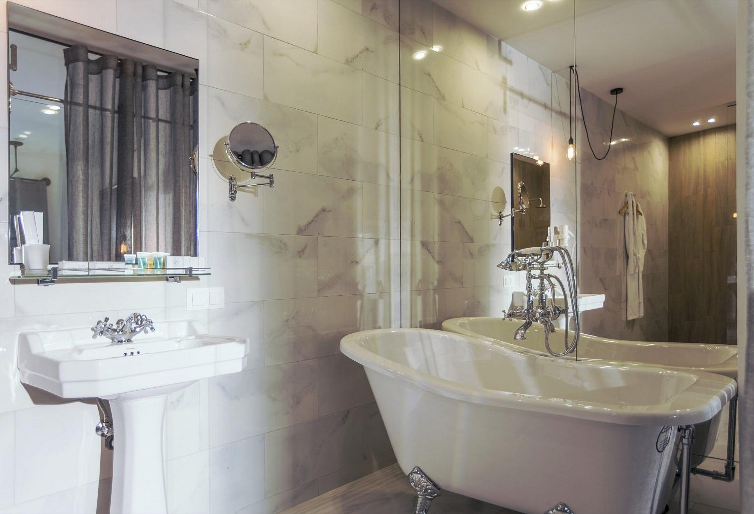 Bathroom at Wall Street Hotel Odessa Ukraine