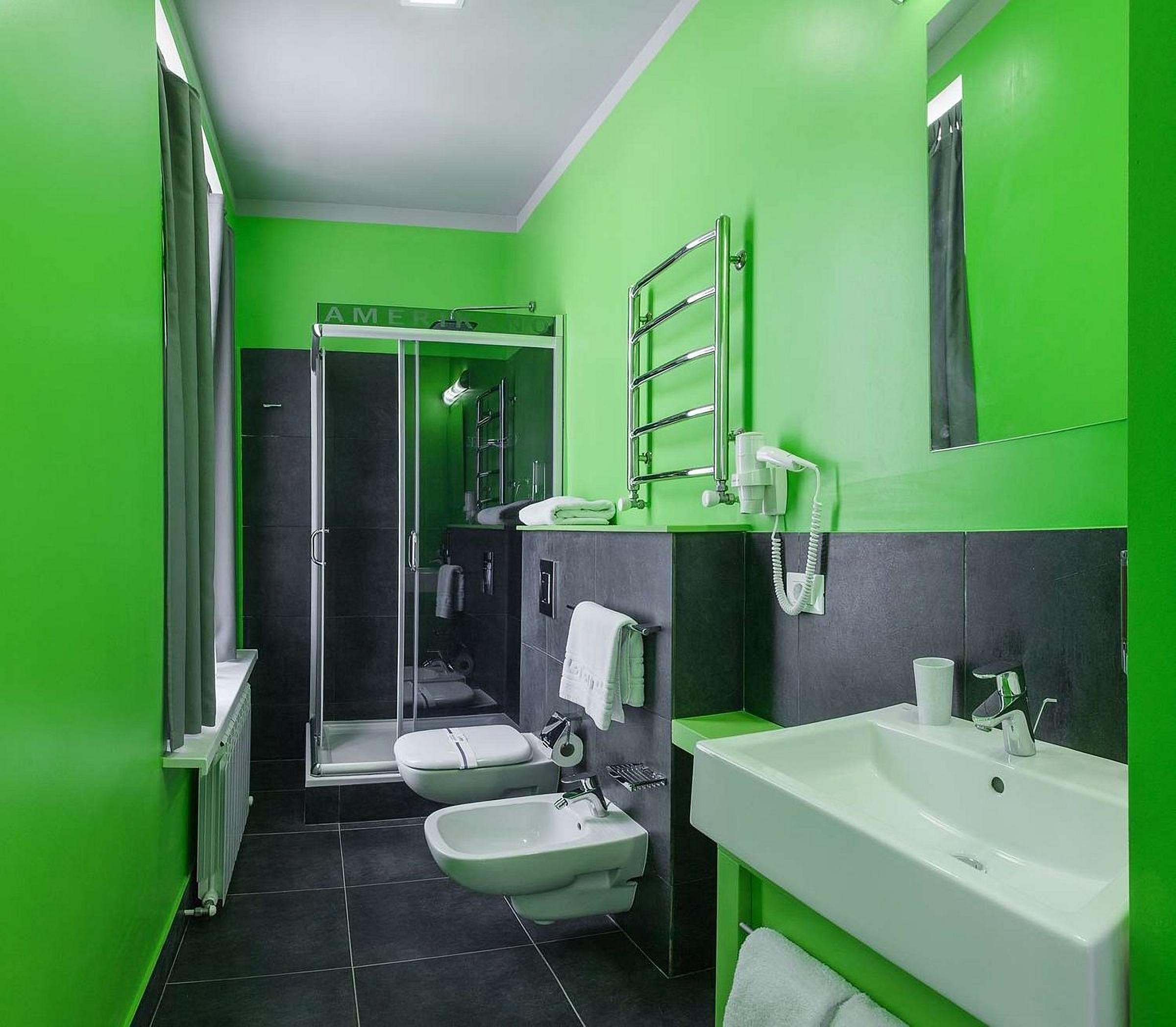 Bathroom in a room at UNO Design Hotel Odessa Ukraine