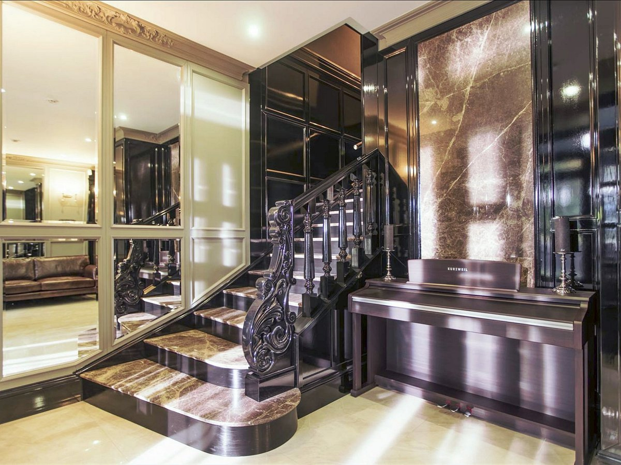 Stairs at the Wall Street Hotel Odessa Ukraine