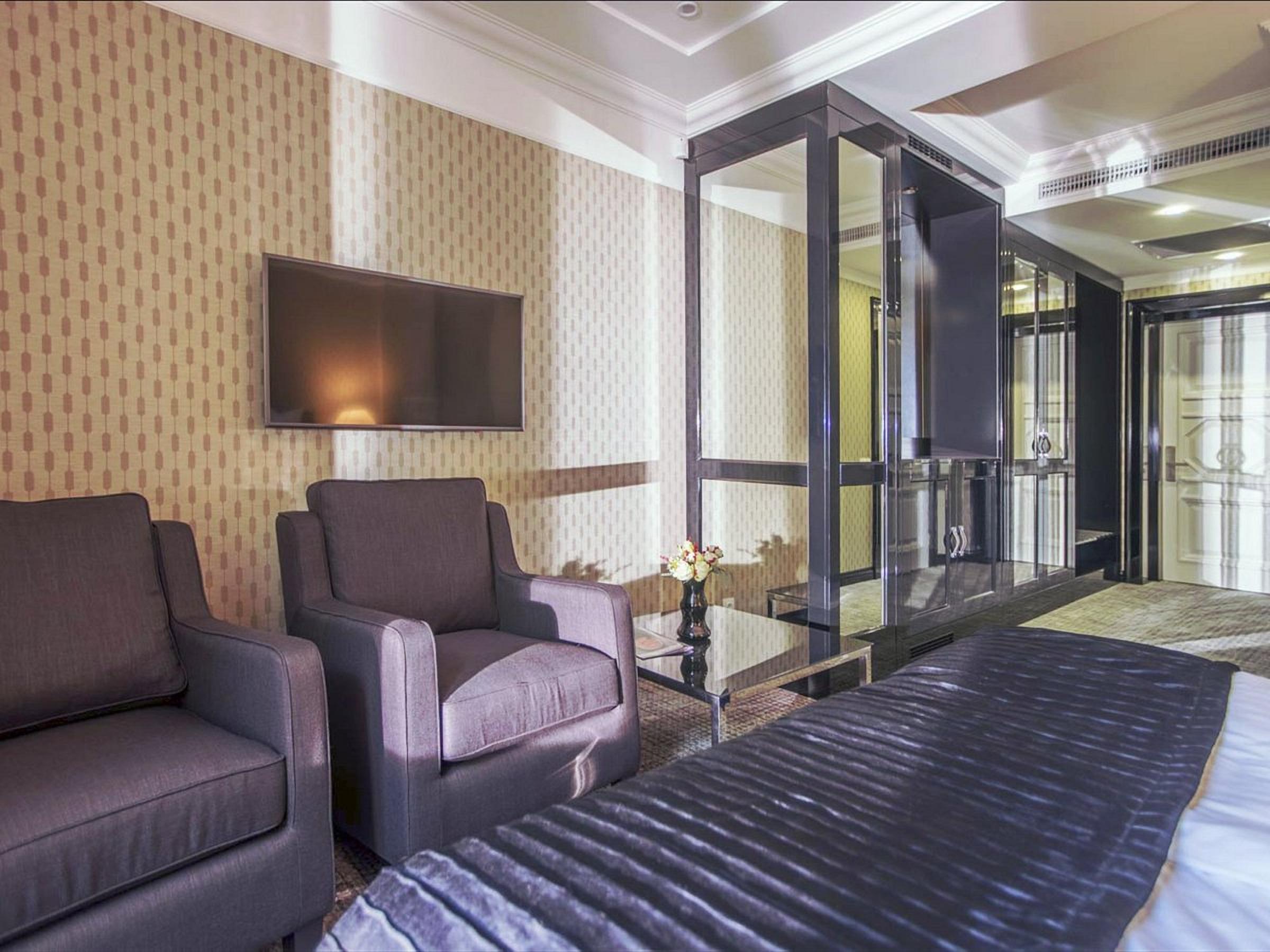 A modern room in the Wall Street Hotel Odessa Ukraine