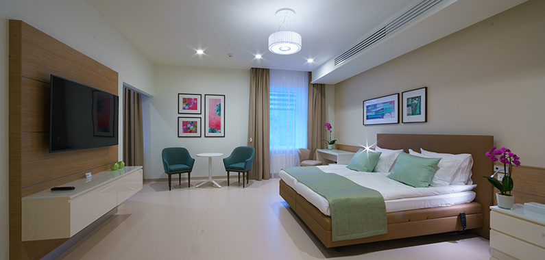 Room to stay in the cell therapy clinic in Kiev