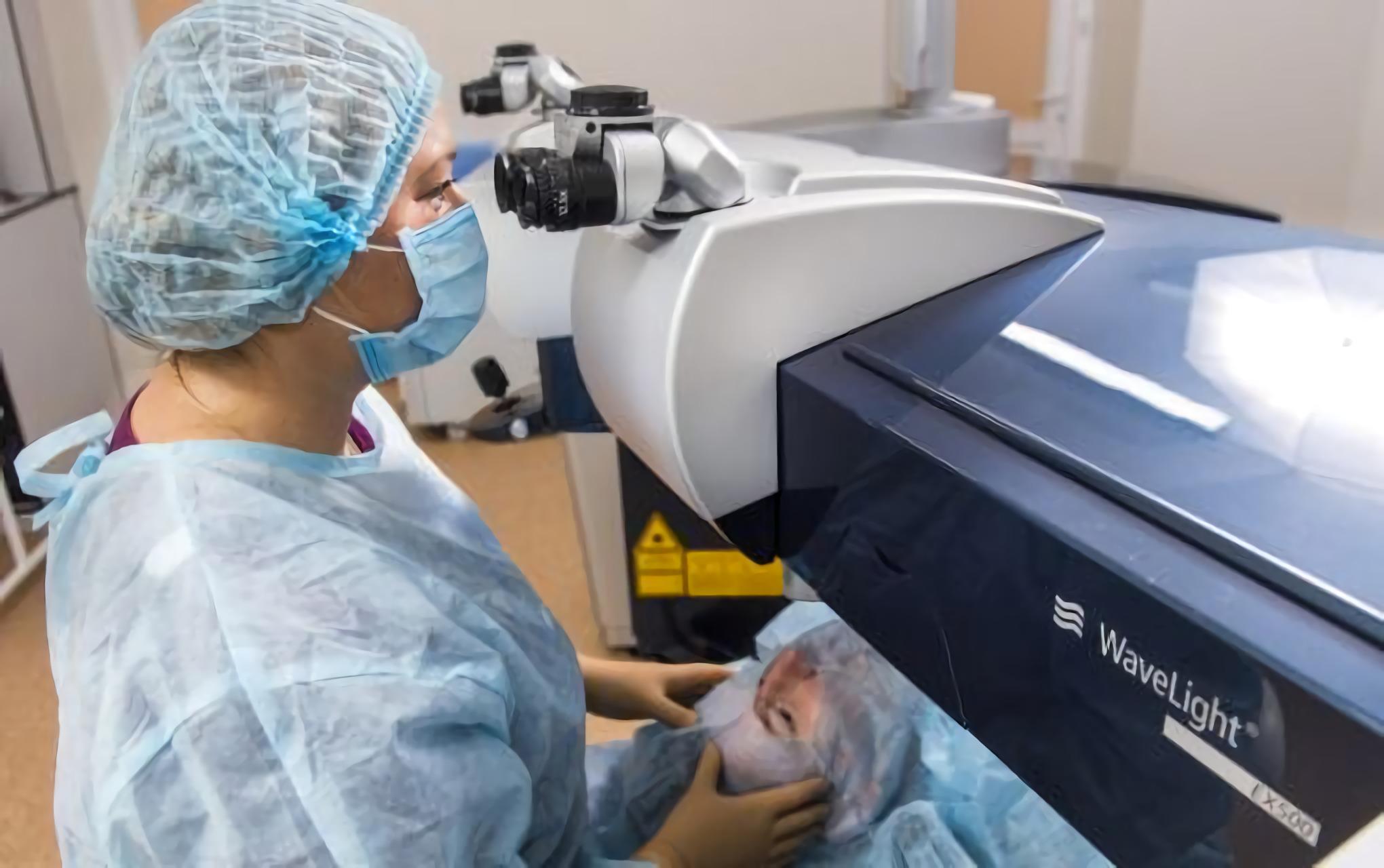 Preparing for eye surgery at the Novy Zir Eye Center