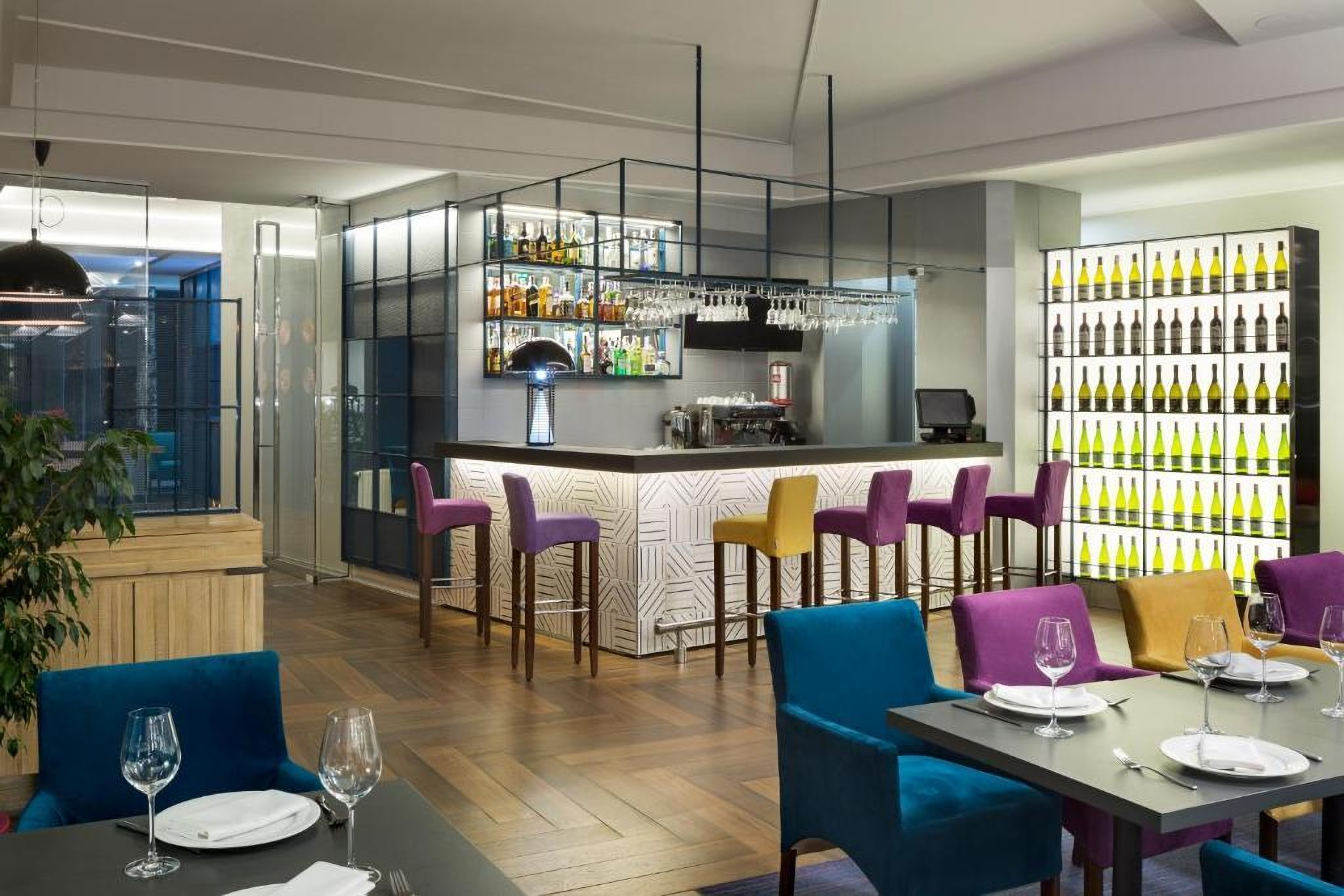 The bar at the Villa Four Rooms Hotel