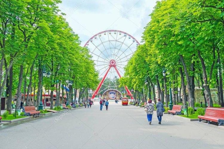 Gorky Park in the center of Kharkov