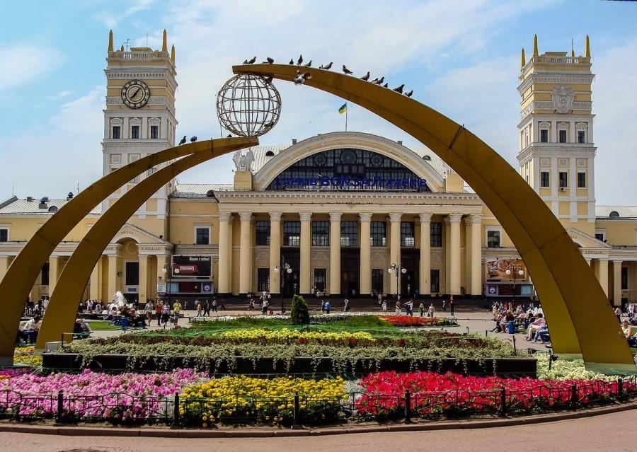 Kharkov railway station Ukraine