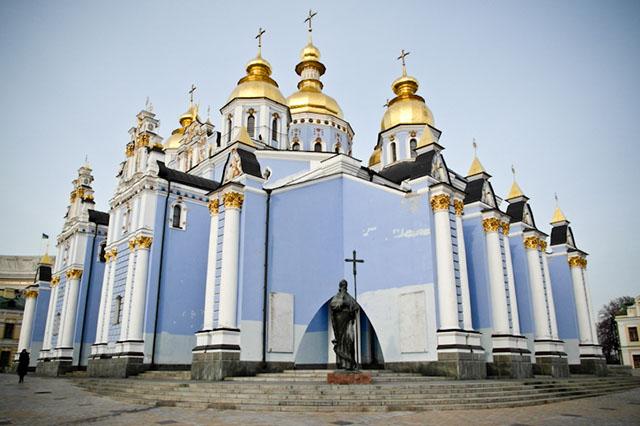 Kiev-Pechersk Lavra in the center of Kiev