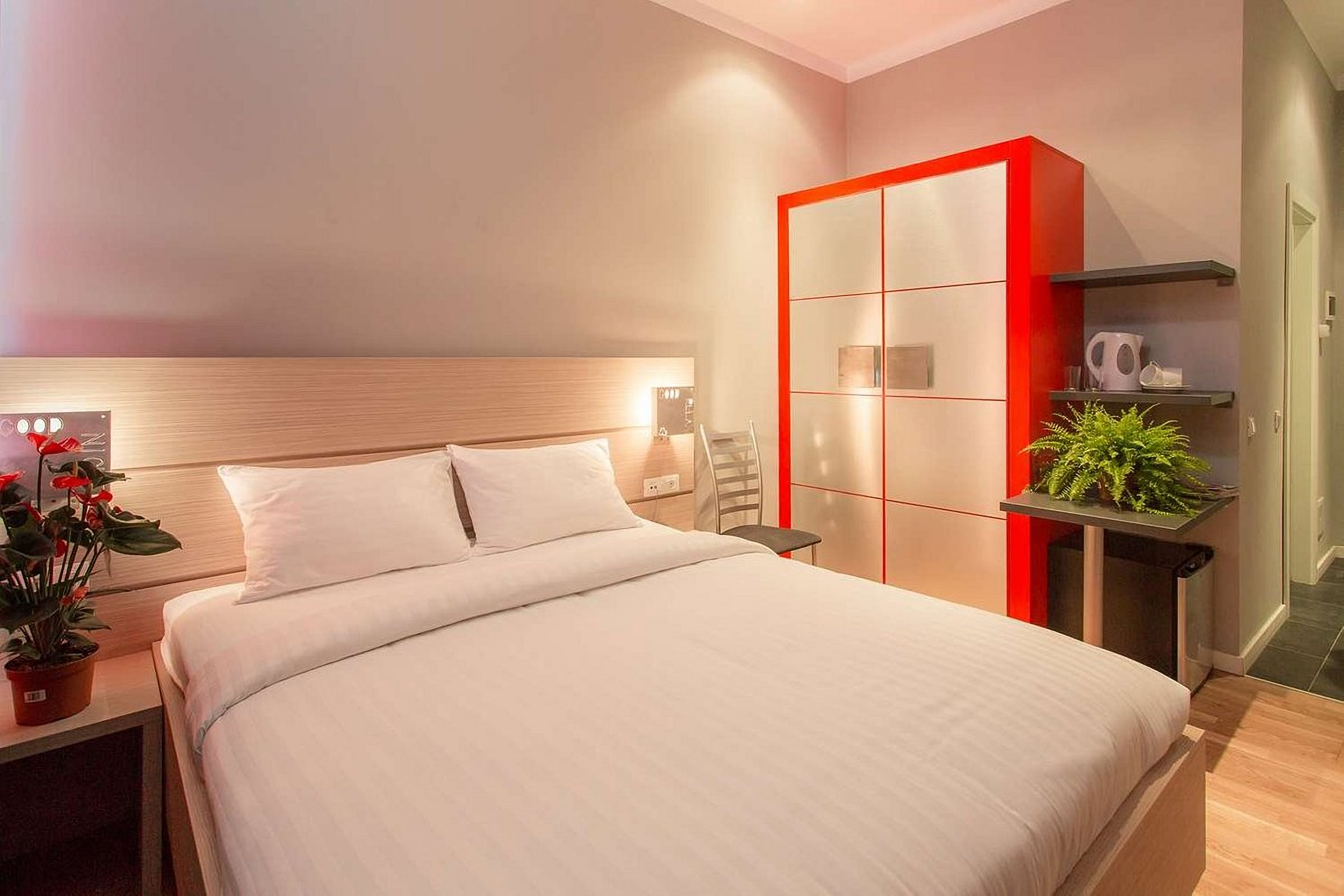 Closet in the room at UNO Design Hotel Odessa Ukraine