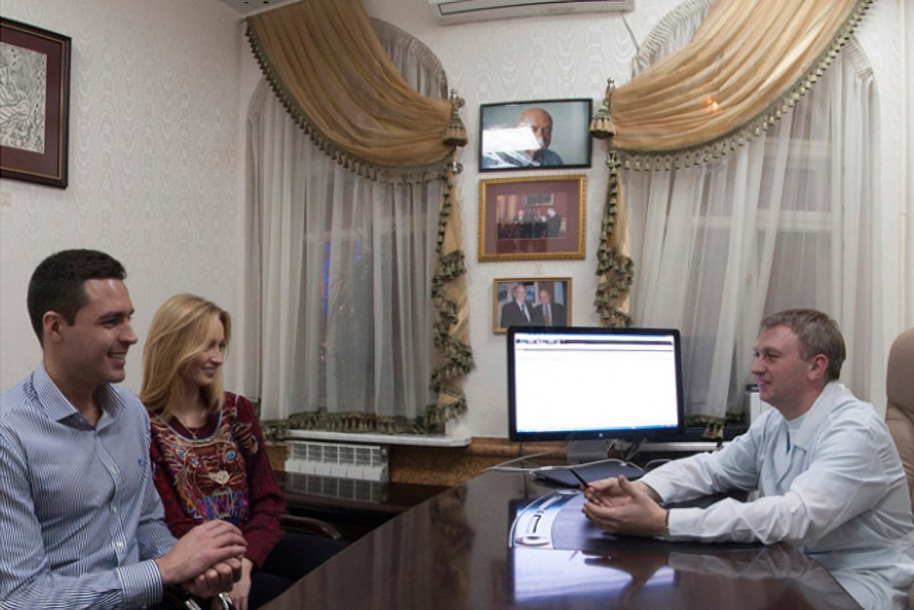 Would-be parents at the Gryschenko reproductive clinic in Kharkiv