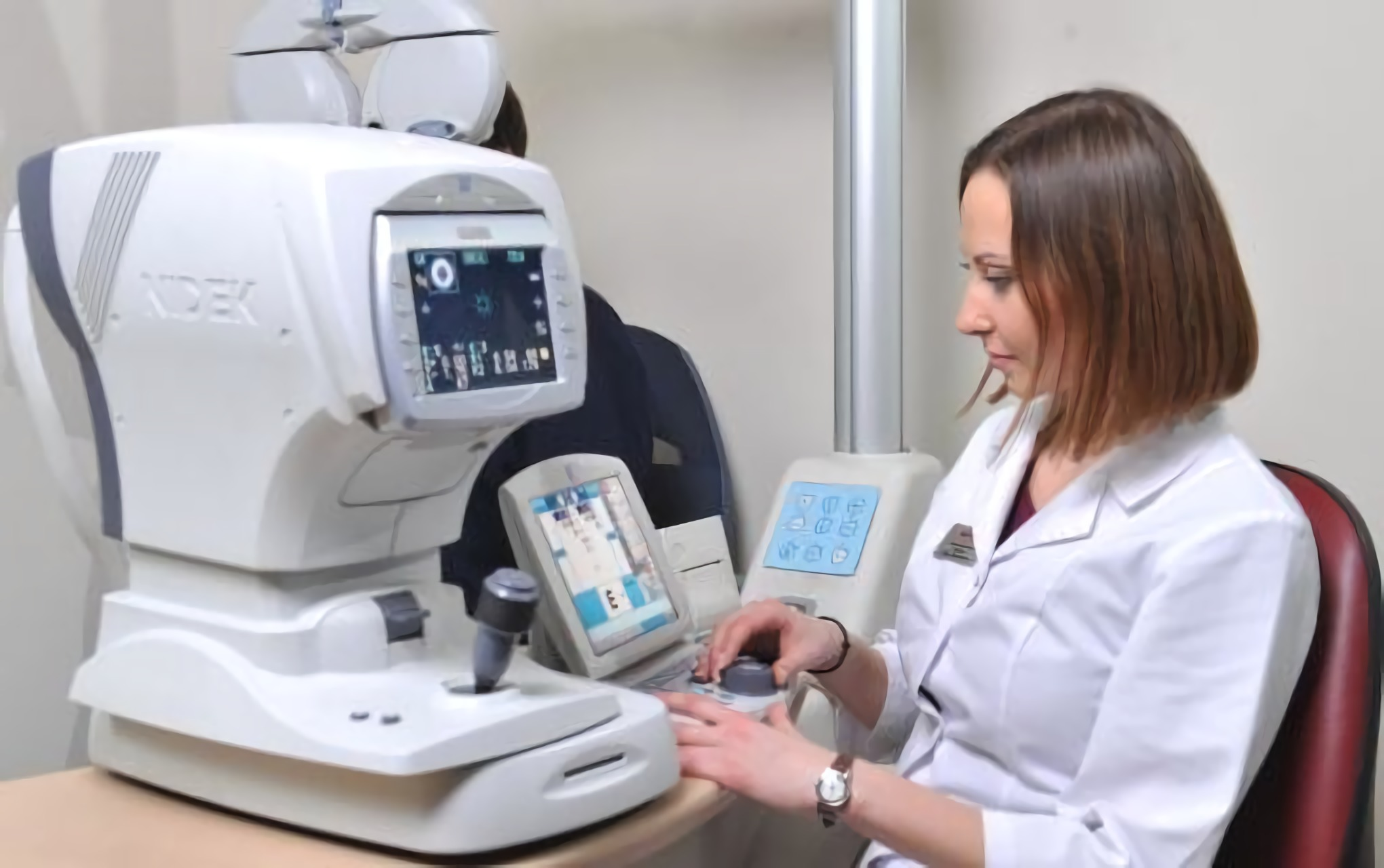 Doctor at the eye clinic Novy Zir in Kiev
