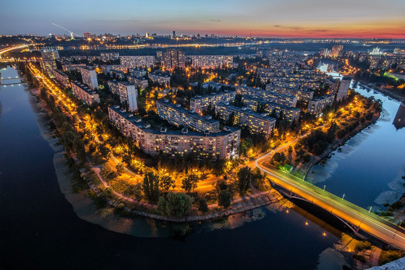 View of Kiev at night