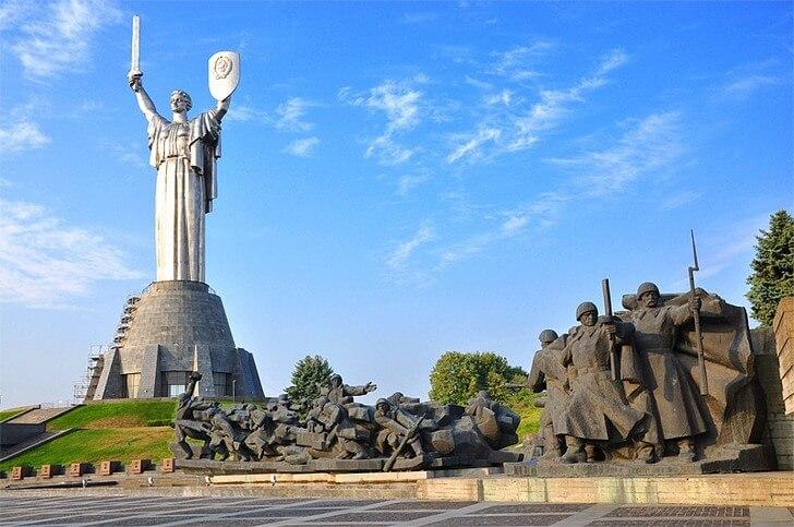 Motherland Monument in the capital of Ukraine city of Kiev