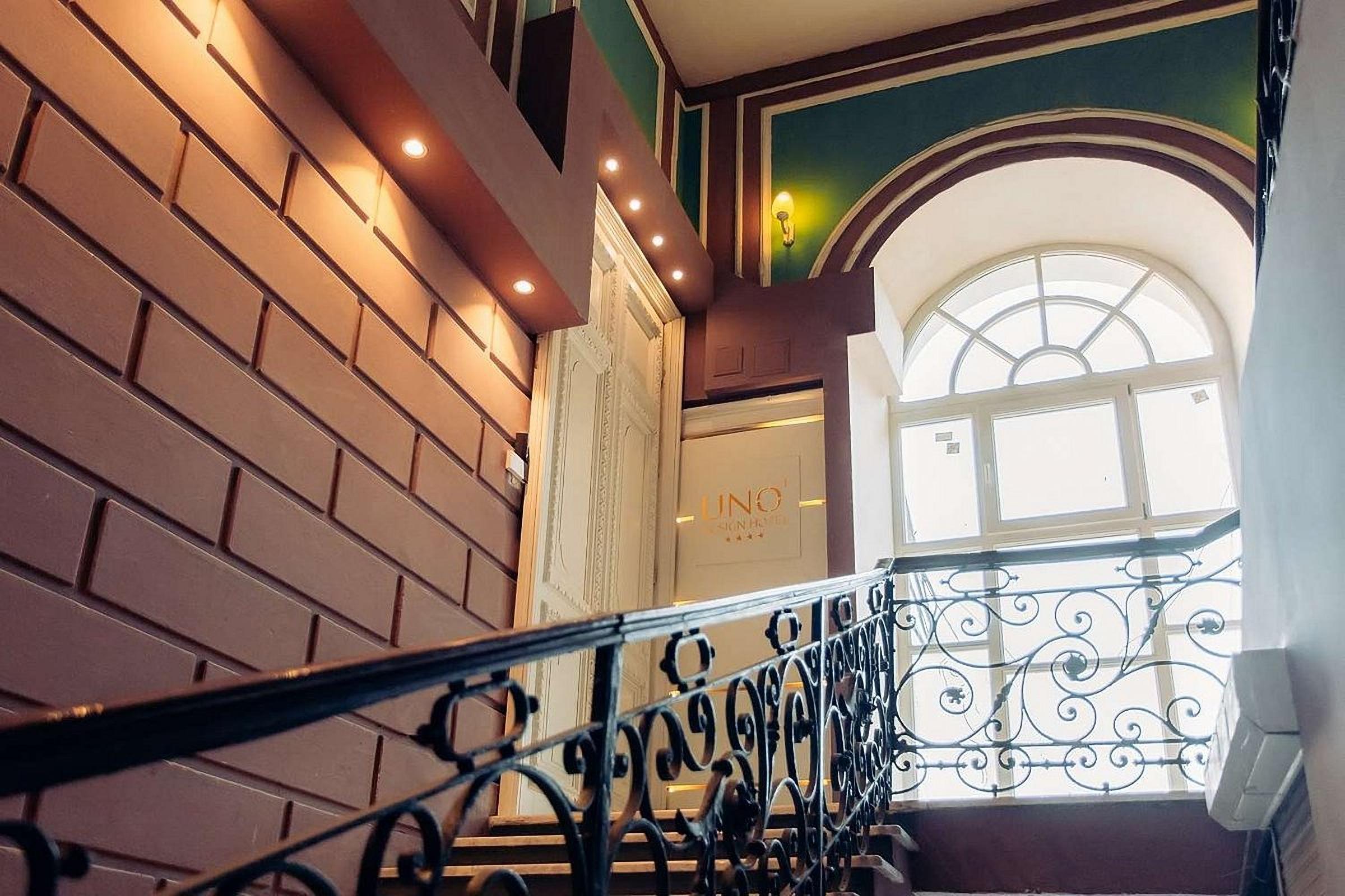 Stairs at UNO Design Hotel Odessa Ukraine