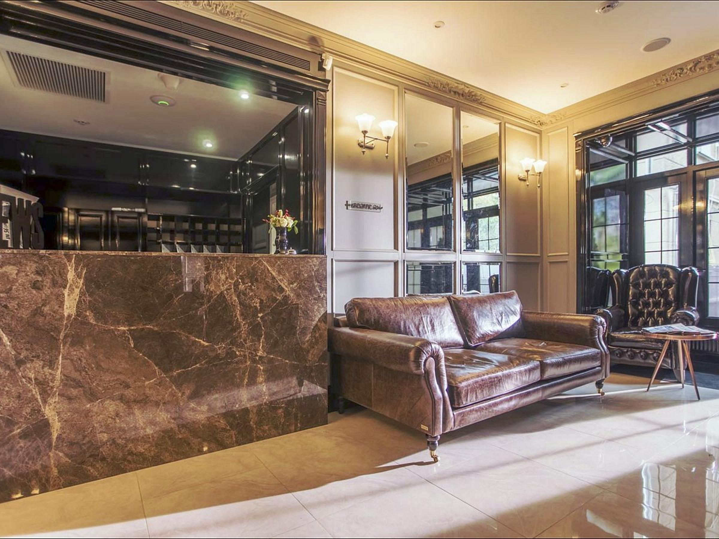 Wall Street Hotel lobby Odessa Ukraine