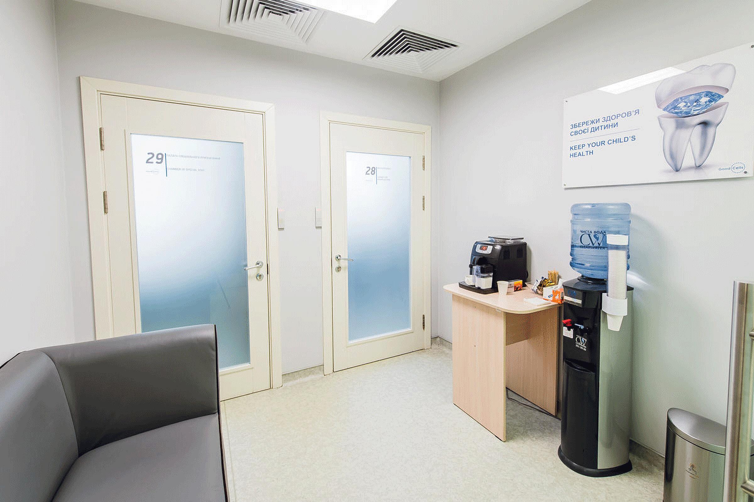 Corridor in GOOD CELLS Ukraine clinic Kiev