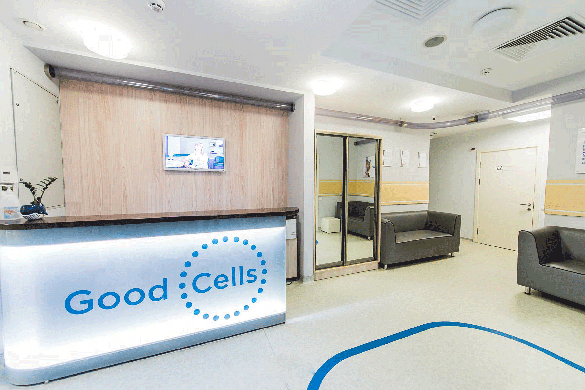 The administrator's desk in GOOD CELLS Clinic Kiev