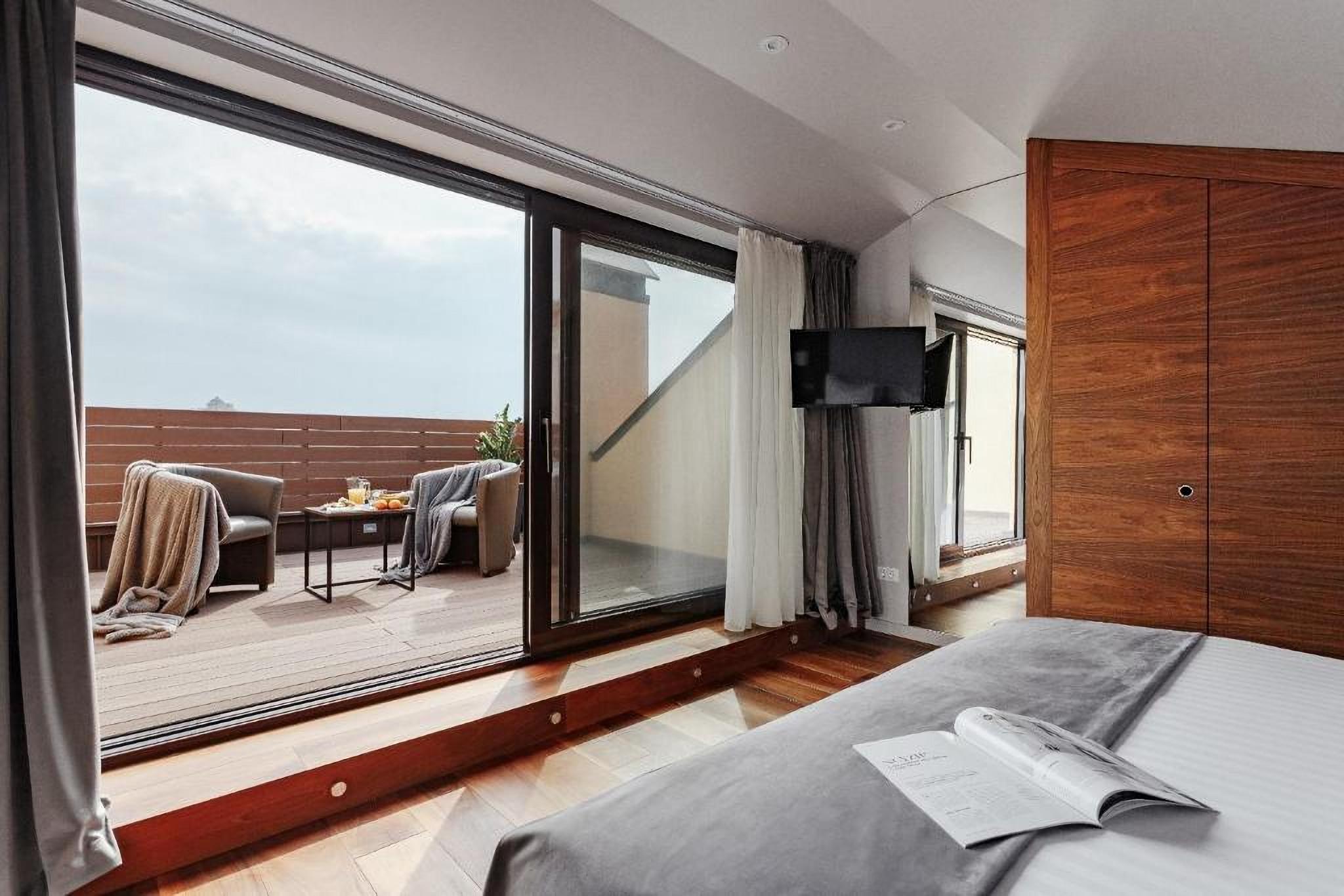 Room terrace at UNO Design Hotel Odessa Ukraine